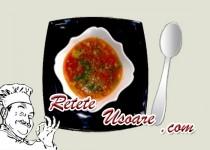 Ciorba de pui cu rosii si orez