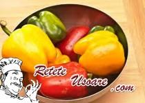 Peperonata cu legume si usturoi proaspat